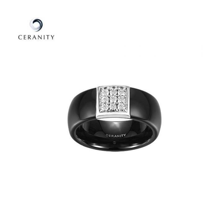 bague or ceramique diamant