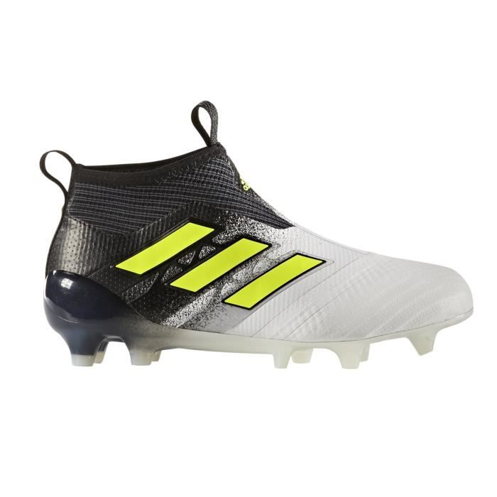 8126d088a21 Chaussures football adidas ACE 17+ Purecontrol FG Blanc-Noir Junior ...