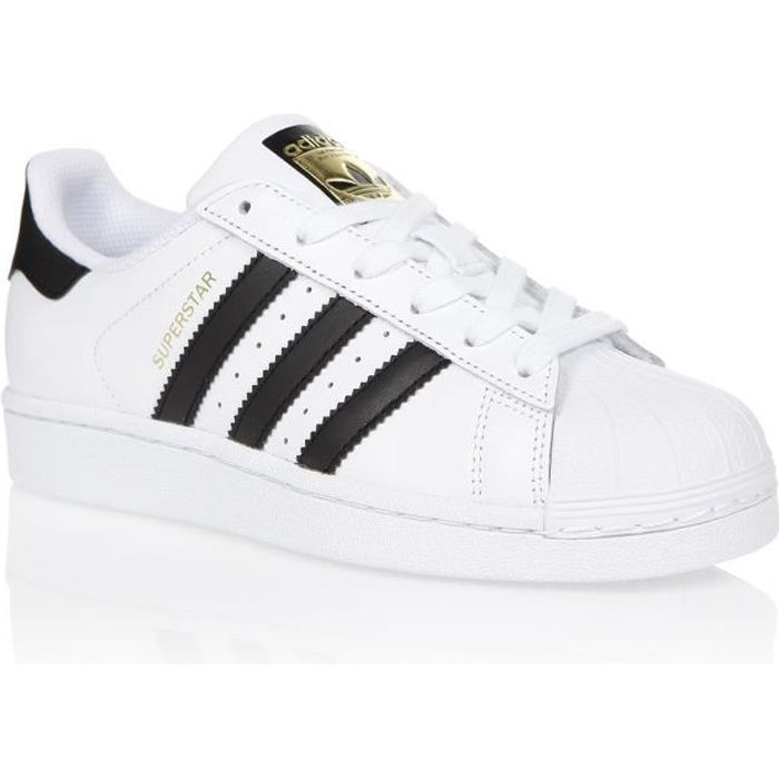 ADIDAS ORIGINALS Baskets SUPERSTAR C77153 - Femme - Blanc/Noir