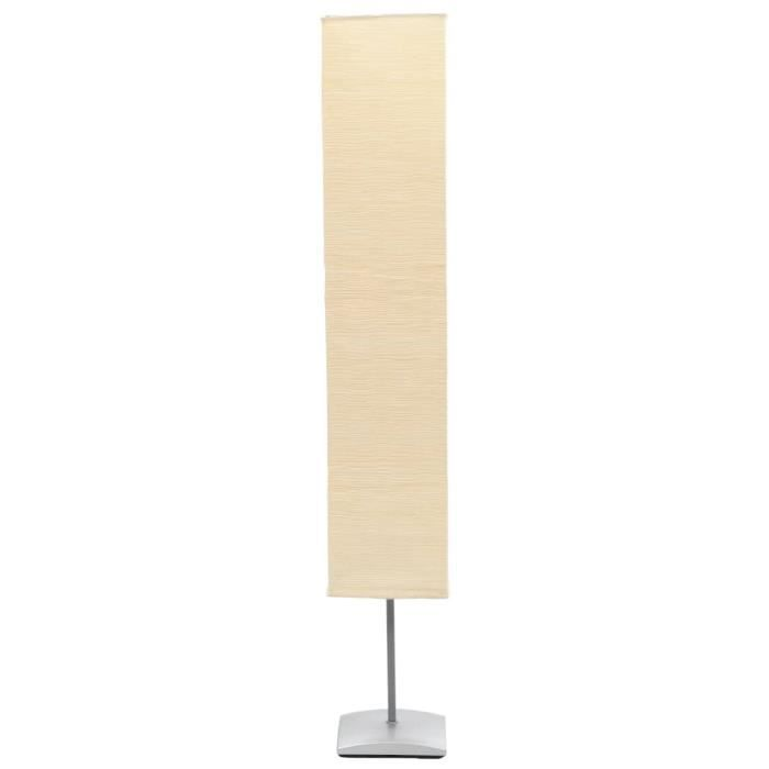 lampe pied de salon 135 cm alu creme achat vente. Black Bedroom Furniture Sets. Home Design Ideas