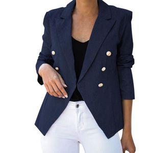 Femmes à manches courtes col montant Veste Blazer Bouton Noir Gris Crème 10 12 14