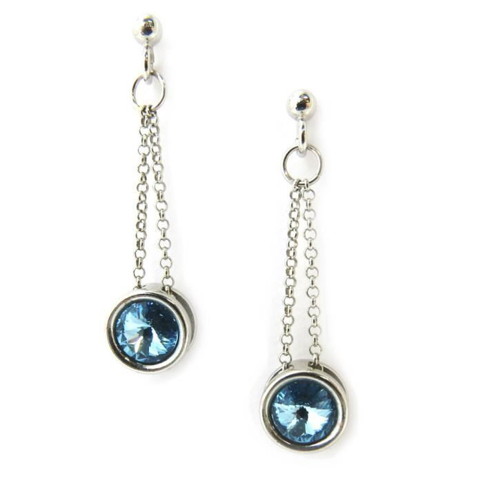 Lily-Swarovski [M0947] - Boucles Argent Sissi...