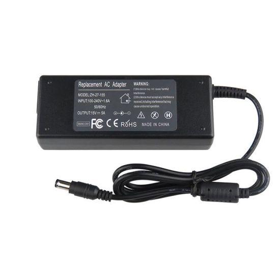 75 W Toshiba Satellite L450D-13X compatible 19 V 3.95 A Ordinateur Portable AC Adaptateur Chargeur