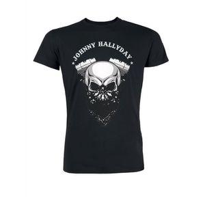 T-SHIRT T-Shirt Biker Johnny Hallyday - Homme - Noir