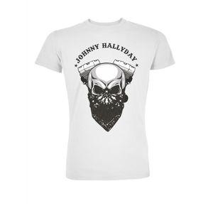 T-SHIRT T-Shirt Biker Johnny Hallyday - Homme - Blanc