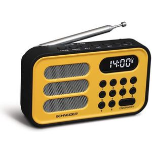 SCHNEIDER SC150ACLYEL Radio Portable Handy Mini - Jaune