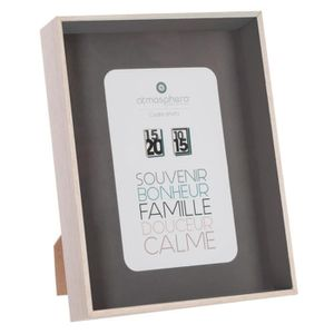 CADRE PHOTO Atmosphera - Cadre photo 3D gris 10x15 L, 15,5 x l