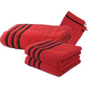 SERVIETTES DE BAIN Lot de 2 Serviettes de Toilette 50x100 cm + 1 Drap