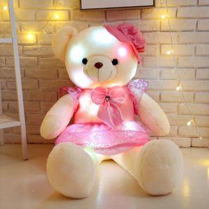 POUPÉE  50 CM Colorful Glowing Mini ours en peluche LED l