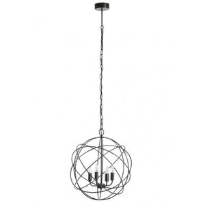 Suspension luminaire 3 boules achat vente suspension for Lustre metal noir