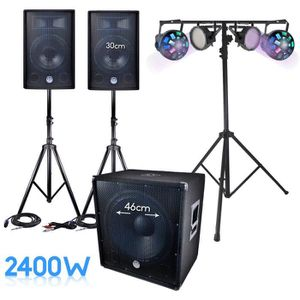 PACK SONO PACK SONO complet BM SONIC 2400W SUB 46cm + 2 FLAS