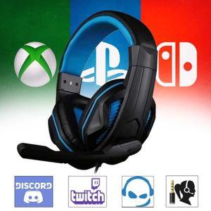 CASQUE AVEC MICROPHONE Casque Audio Gamer X-Blue pour PS4 PC Xbox One Nin