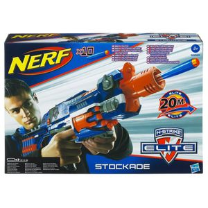 PISTOLET BILLE MOUSSE NERF Elite Stockade