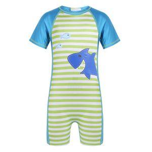 Enfants Combinaison de Natation Gar/çons Maillots de Bain Une Pi/èce de Protection Anti-UV Costume de Plong/ée avec Bonnet de Bain