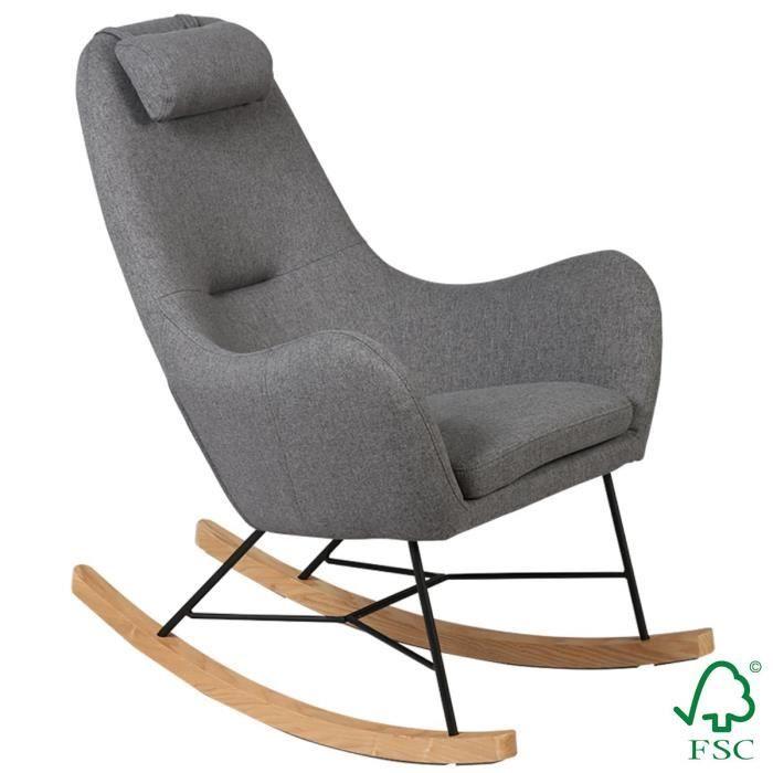 Rosa - Rocking-Chair Gris