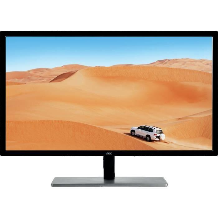 AOC Écran LED Q3279VWFD8 - 31.5- - 2560 x 1440 QHD - 250 cd/m² - HDMI (MHL), VGA, DVI-D, DisplayPort
