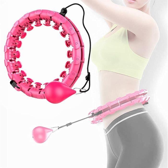 Hoola Hoops pour la Perte de Poids, Houla Hop Fitness Hoops avec Massages, 24 Anneaux de Fitness Mobiles et Réglables