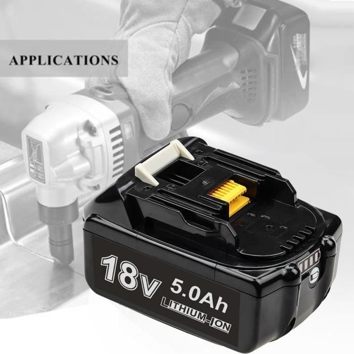 【PACK OUTIL A MAIN】Pour Makita 18 V Remplacer la batterie 5.0AH Lithium Pour Makita BL1860 BL1860B Expédition rapide xiao2257