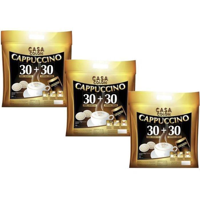 CASA COLON Café Cappuccino 3 x 30+30 dosettes souples