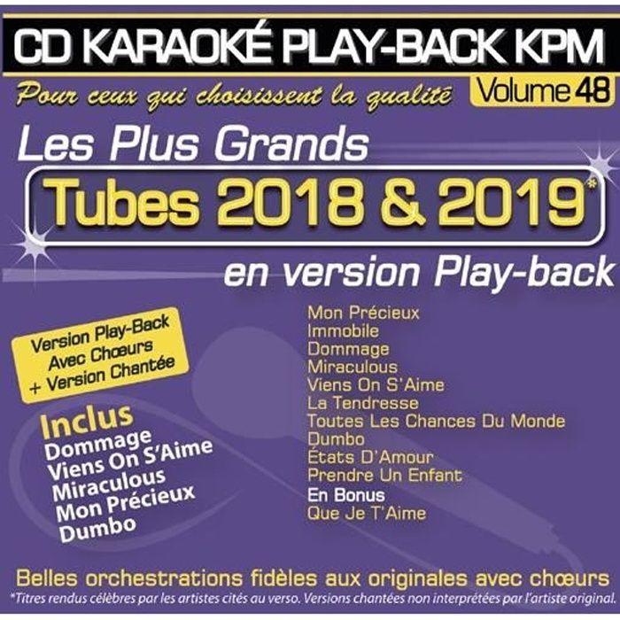 CD Karaoké Play-Back KPM Vol.48 -Tubes 2018 & 2019-