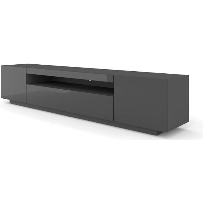 Mueble TV Table 200 cm Salon Hi-Fi Commode Graphite