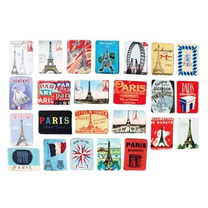 24pcs Belle Aimants décoratifs Magnets -Paris la30810