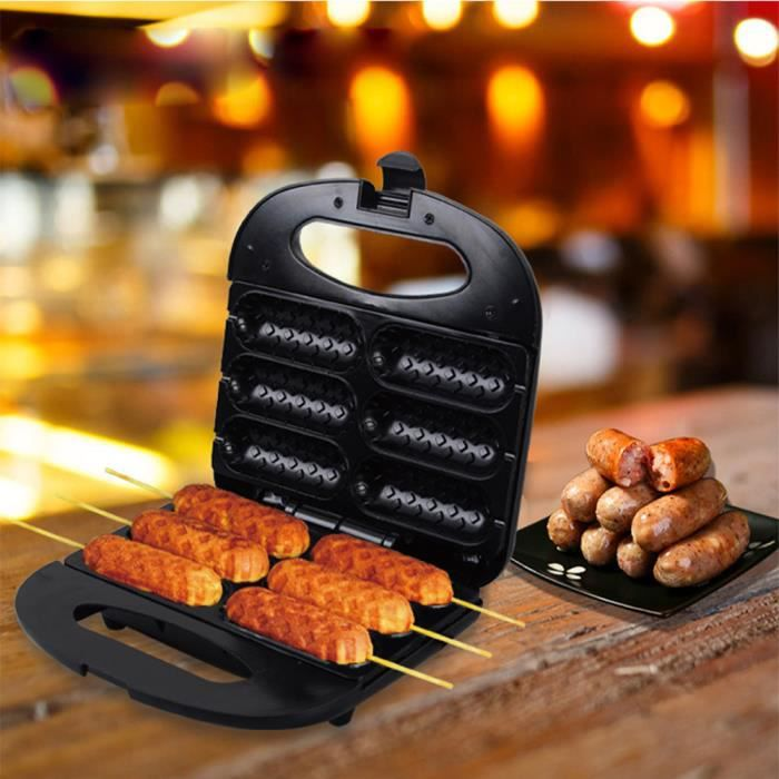 Machine à saucisses à hot-dog, petite saucisse grillée secrète, contrôle automatique de la température et multifonction