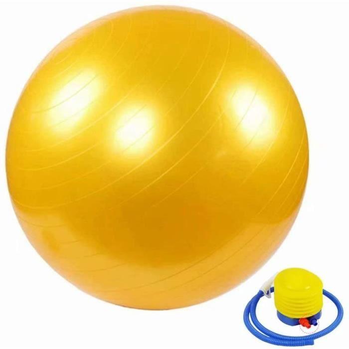 n de Gym ou Swiss Ball Gym Swiss Ball pour Pilates Yoga Grossesse Fitness Robuste Antideacuterapant HypoallergeacuteniqueJaune90101
