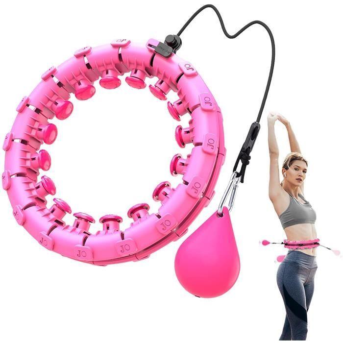 Hoola Hoops pour la Perte de Poids Houla Hop Fitness Hoops avec Massages 24 Anneaux de Fitness Mobiles et Rglables pour Adult[471]