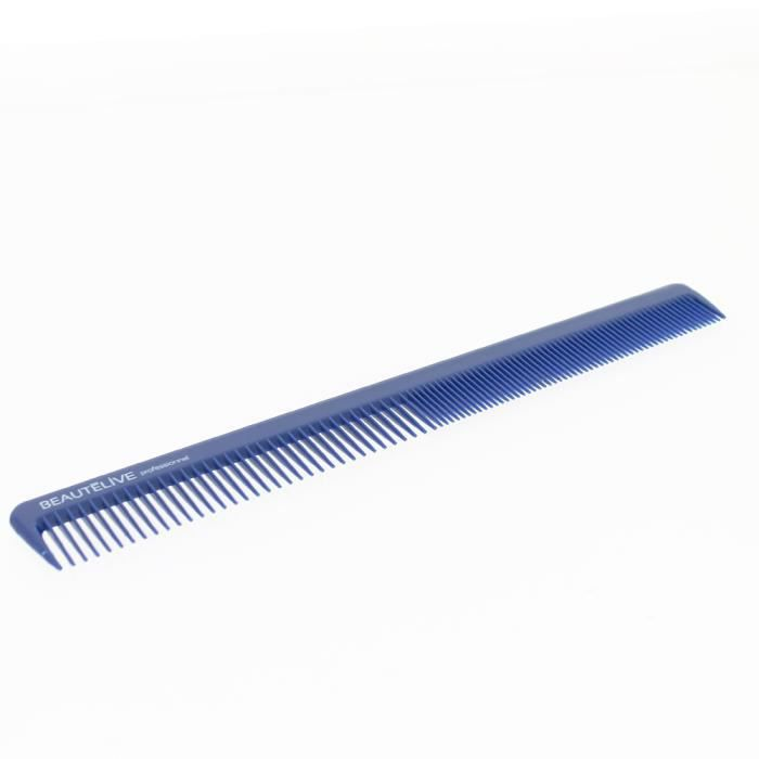 Peigne de coupe ABS en biais 18cm, couleur bleue Bleu, Accessoires coiffure Beautélive