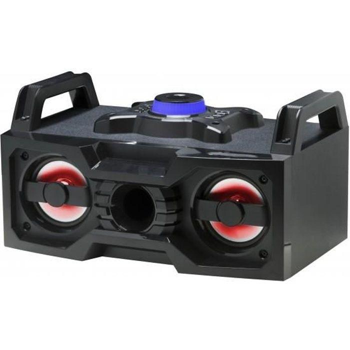 Enceinte Bluetooth Boombox avec radio FM et LED - DENVER BTB-60