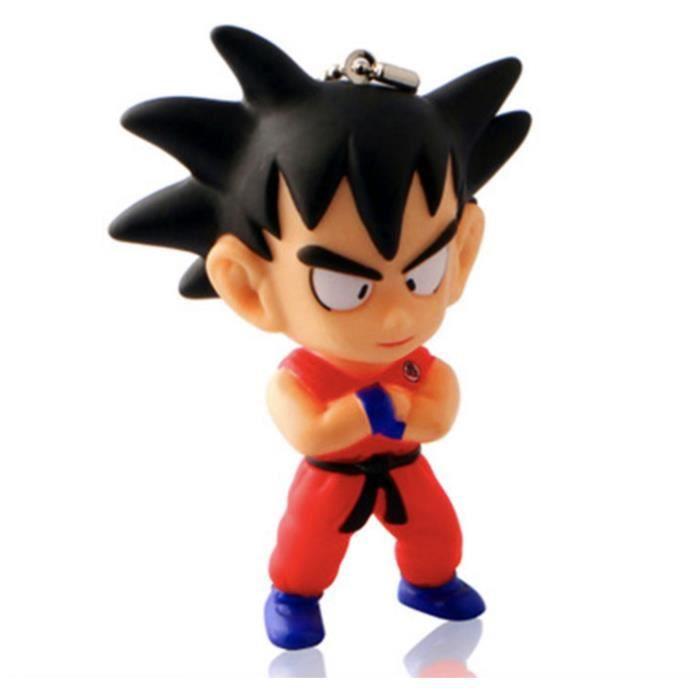 2 pièces Dragon Ball Son Goku Porte-clés de Bande Dessinée Porte-clés Sac Pendentif