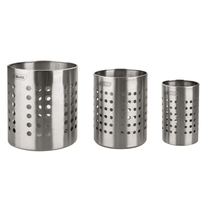 PORTE USTENSILES INOX (10cm) diamètre 10 cm Hauteurs : 12 cm