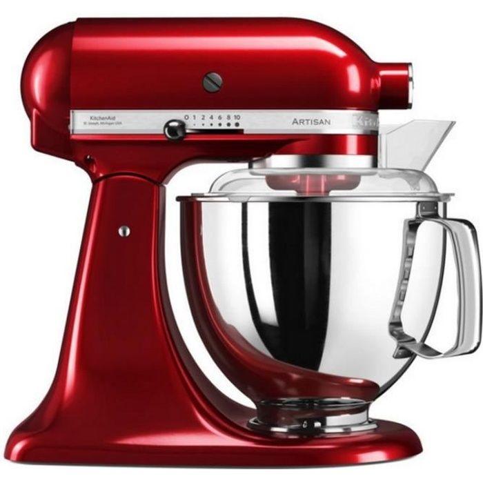 Kitchenaid - robot sur socle 4,8l 300w rouge - 5ksm175pseca