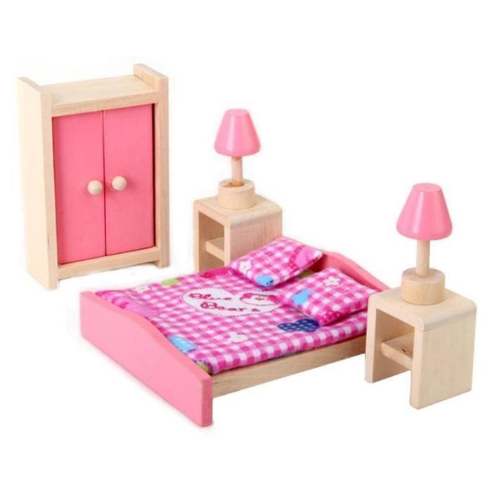 Poupée Chambre d'enfant Chaise Durable Cabinet Toy Matériel Safe Accessoires de jeux rose