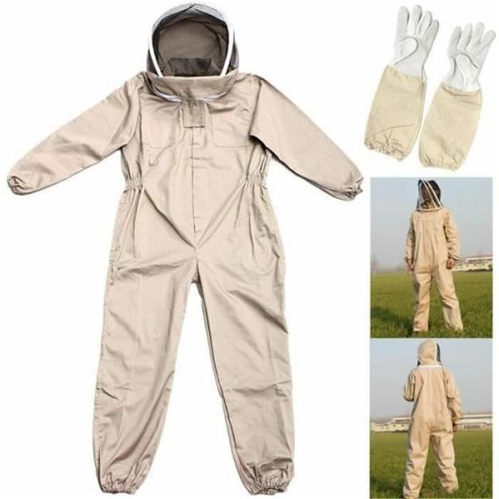 Letouch Costume Apiculture Abeille avec Gants Anti Abeille Protection XL (Convient pour la hauteur 180-190 cm)
