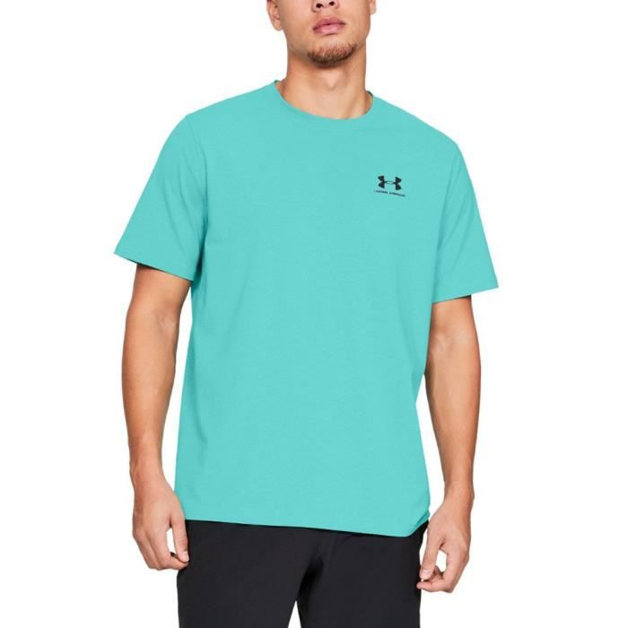 Under Armour Hommes Charged Cotton Left Chest Lockup T-Shirt De Sport Entraînement