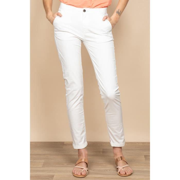 DEELUXE Pantalon chino uni SHINO Off White