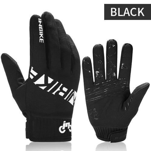 Gants vélo,INBIKE doigt complet gants de VTT écran tactile gants de cyclisme anti dérapant gants de vélo pour hommes - Type Black