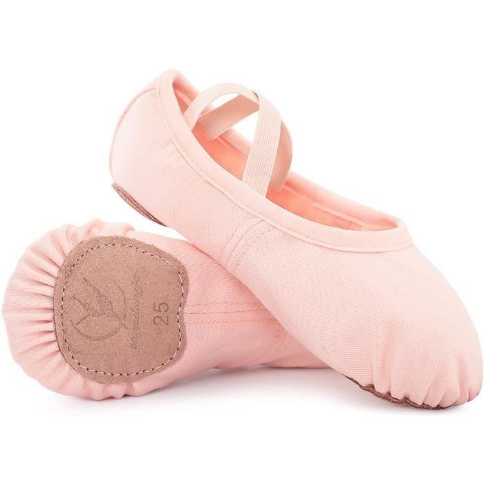chaussures de danse classique chausson de danse toile demi pointe pantoufle de ballet chaussure de ballet pour fille enfants femme