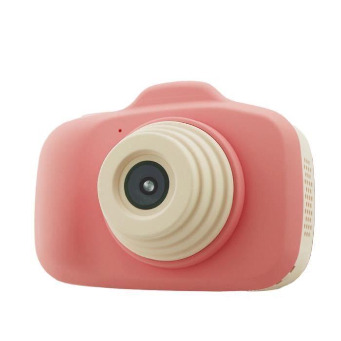 Caméra Enfant, Appareil Photo Numérique Antichoc, Double objectif, écran HD de 2,3 pouces - Rose