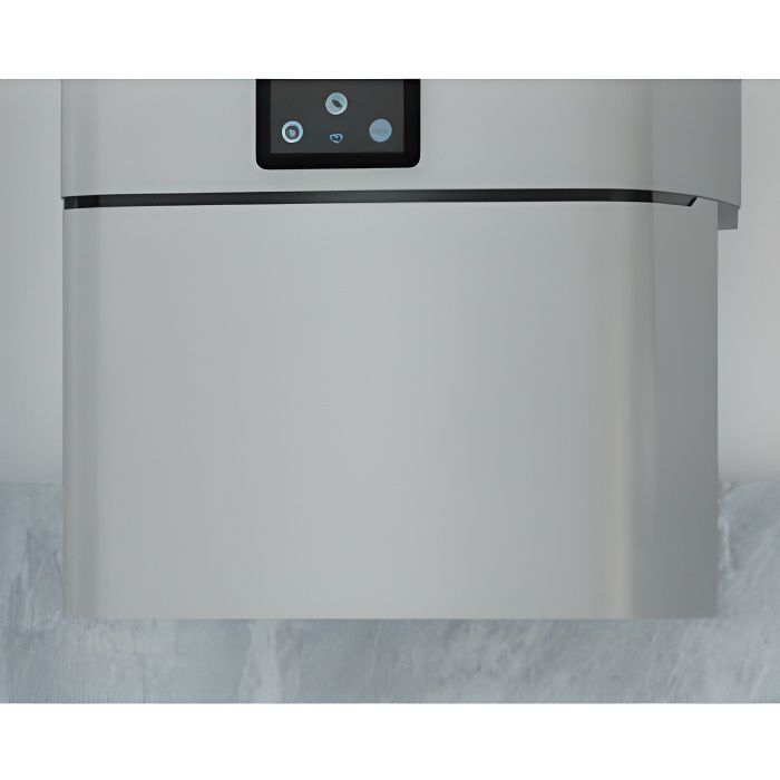 Cache-piquage blanc pour Chauffe-eau Malicio 2 en 40-65-80L