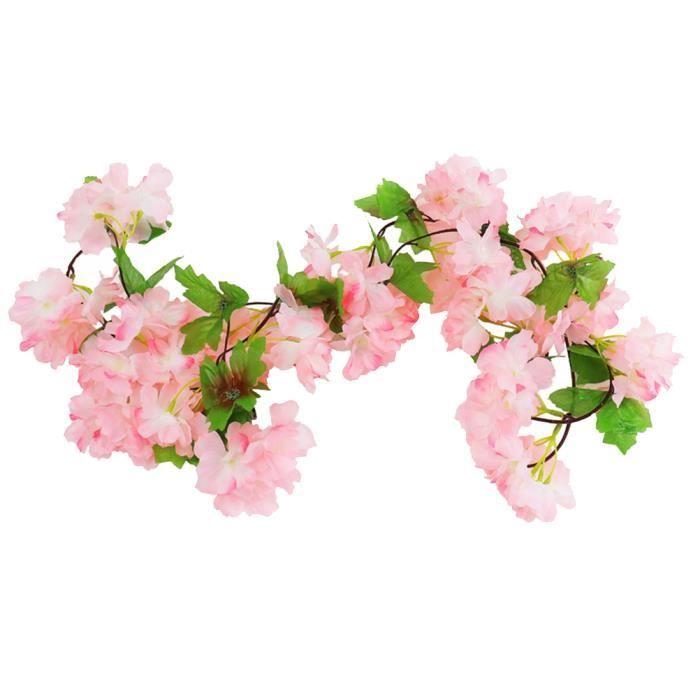 1 Pc Simultion Sakura Rotin Décoration De Mariage Fleurs Accessoires Style Japonais Ornement pour Hôtel Maison CONSOLE EDUCATIVE