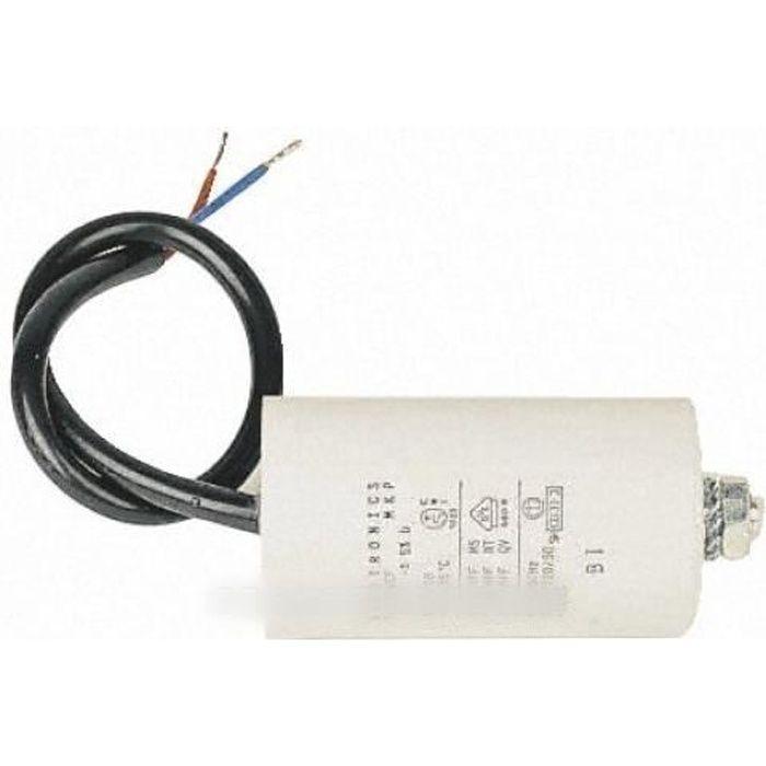 Condensateur de demarrage 25 MF 45 X 71 MM pour tondeuse electrique