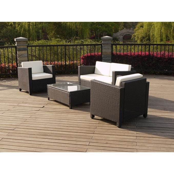 salon de jardin bas atlanta en r sine tress e achat vente salon de jardin salon de jardin. Black Bedroom Furniture Sets. Home Design Ideas