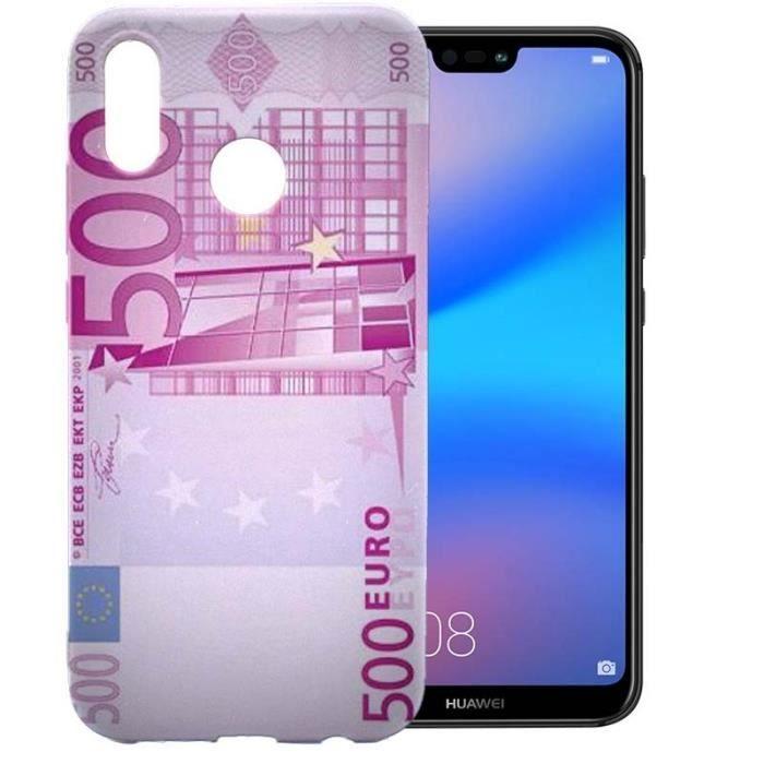 Coque Huawei P20 Lite Billet Rose 500 Euros