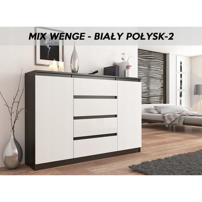 PORTO 10W  Commode contemporaine meuble rangement chambre/salon  10x10x10   10 tiroirs  Finition Laquée  Buffet séjour