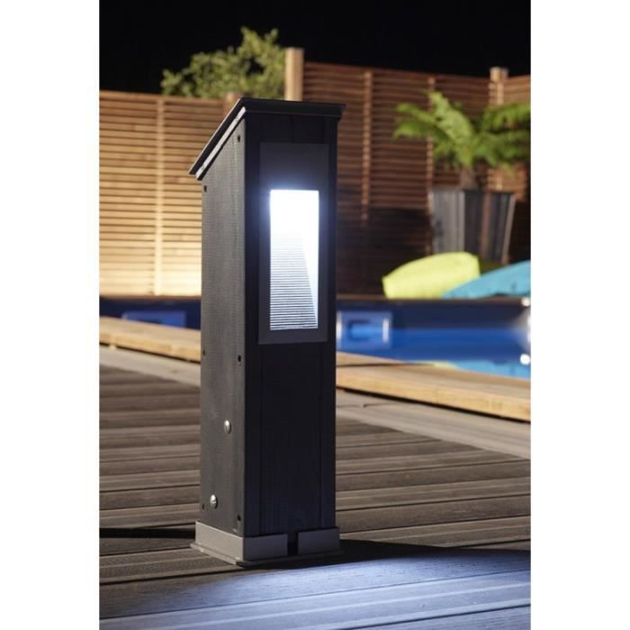 Luminaire poteau h 530 mm gris anthracite achat vente for Luminaire exterieur gris anthracite