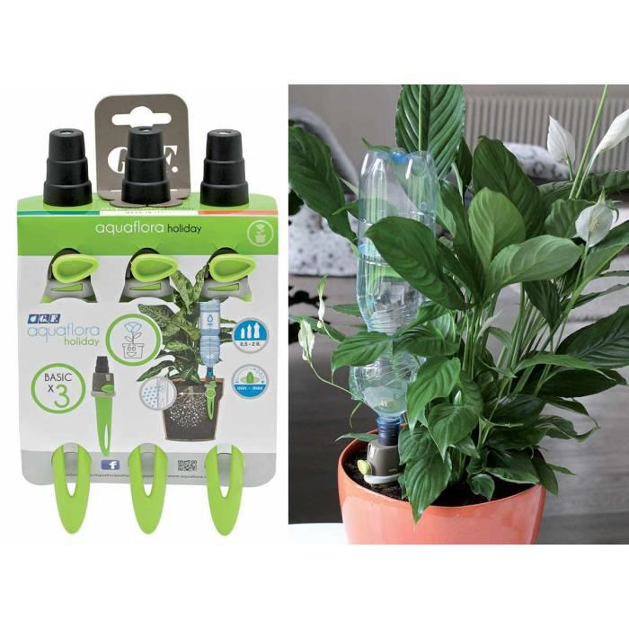 lot de 3 aquaflora holiday arrosage automatique pour plante en pot achat vente kit complet. Black Bedroom Furniture Sets. Home Design Ideas