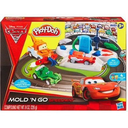 play doh cars 2 circuit de voitures martin fla achat vente jeu de p te modeler cars 2. Black Bedroom Furniture Sets. Home Design Ideas